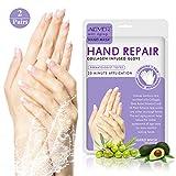 2-Pack Moisturizing Gloves,Treatment Hand Spa Mask for Dry,Cracked Hands,Moisturizer Hands Mask, Repair Rough Skin for Women&Men
