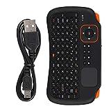 Vbestlife1 Telecomando con Tastiera Wireless 2.4G, Mini Tastiera USB a 83 Tasti con touchpad per Giochi, Controllo HTPC, Controllo di dispositivi mobili, lezioni e Istruzioni in Aula, Nero