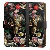 Étui Compatible avec LG Q6 Étui Folio Étui magnétique Peinture Eglise Fleur