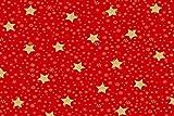 Fabrics-City 2M ROT Weihnachten Bedruckt