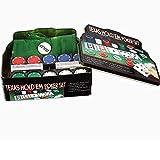 NanXi 200 Poker Chip Set di Carte da Poker, Texas Hold'em Blackjack Giochi di Partito Giochi da Tavolo Set miglior Servizio