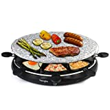 Best Raclette Grills - Raclette Grill Oval Stone Grill Machine with 8 Review