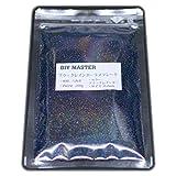 DIY MASTER ブラックレインボー ラメ フレーク 0.2mm 100g