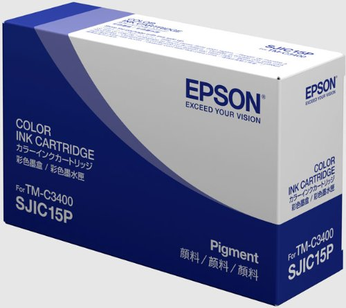 Epson SJIC15P Color Ink Cartridge for TM-C3400 label printer