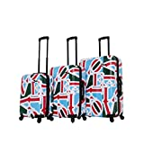 Mia Toro Italy-Love Collection Hard Side Spinner Luggage 3pc Set, One Size