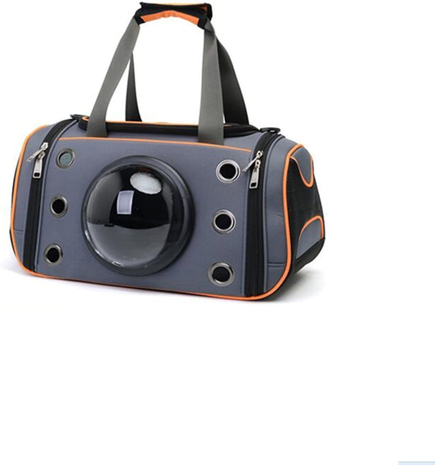 DALL Carriers—— FS823 Pgoldus Breathable Design Cats And Dogs Pet Package Pet Carrier Travel Bags Durable Safety Buckle (color   orange, Size   L)