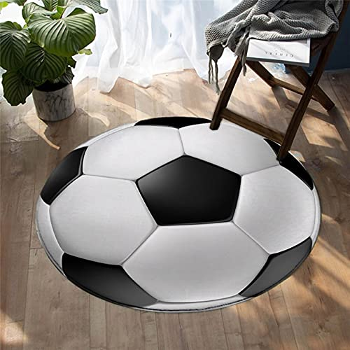 Alfombra de área redonda, balones deportivos de baloncesto 3D, alfombra familiar de espuma viscoelástica suave realista y divertida, alfombra de área de gateo para niños / bebés, diámetro 80 cm / 502