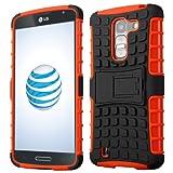 Cruzerlite Spi-Force TPU Case for the LG G Pro 2 - Retail Packaging - Black/Orange