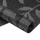 Homcomoda Platzsets Abwaschbar Hitzebeständig Tischsets Rutschfest  Schmutzabweisend Platzdeckchen für Küchentisch 6er Set(Schwarz) - 2