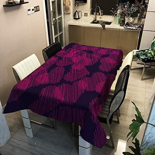 XXDD Patrón geométrico Mantel de Mariposas y Plantas decoración Rectangular Mantel a Prueba de Polvo para el hogar A4 140x180cm
