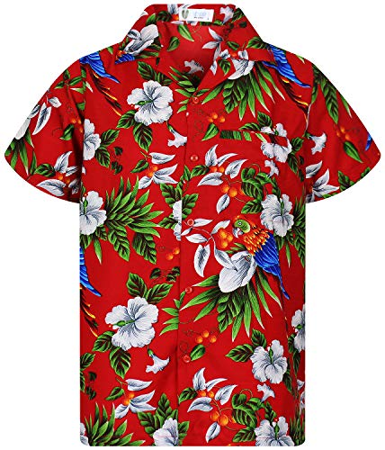 V.H.O. Funky Camisa Hawaiana, CherryParrot, Red, L