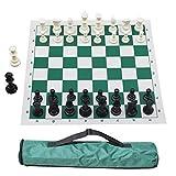 Juego de ajedrez de viaje portátil | Juego de ajedrez enrollable de nuevo diseño, liviano y fácil de transportar, adecuado para niños y adultos que viajan (20 pulgadas 20 pulgadas)