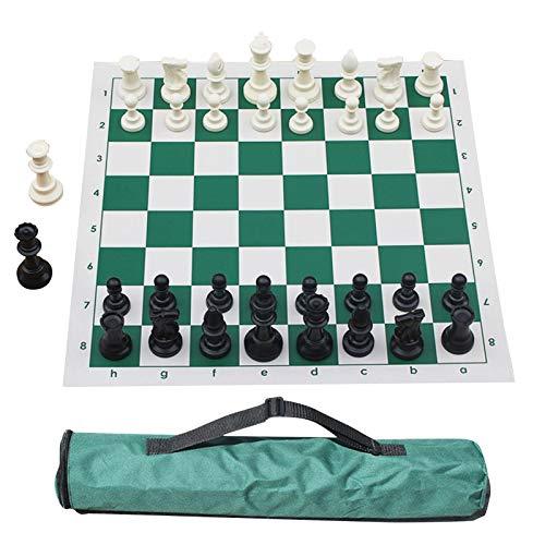 Puzzle-Schachspiel Standardspiel Schachfiguren, Zahlen (1-8) Und Buchstaben (a-h) Auf Dem Schachbrett Gedruckt, Tragbares Reiseschach Für Anfängerkinder