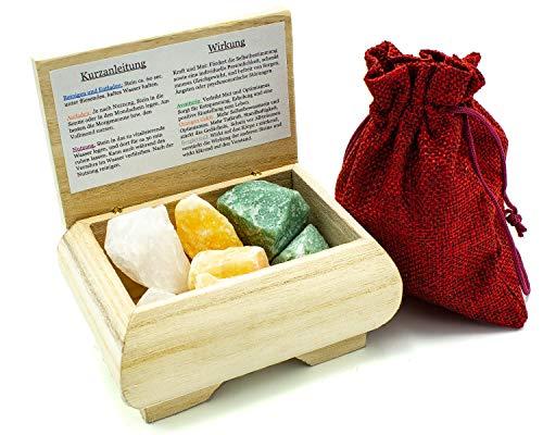 Meditation und Entspannung   100% Natursteine   Premium Wassersteine   Deine Heilstein Edelsteinwasser Mischung   Quellwasser gereinigt