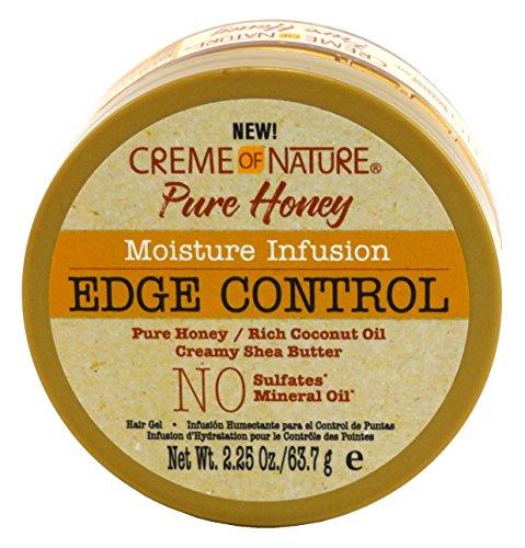 Creme of Nature Crème de Nature Miel pur Edge Control Gel 2.25 Jar Ounce (66ml) (6 Pack)