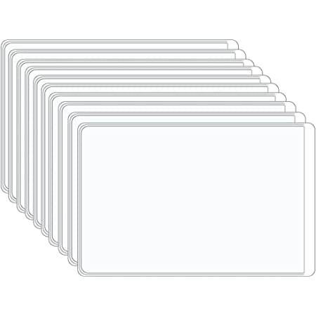 Voarge 10 Pcs Card Holder Protector Sleeves, Soft Transparent ID Business Card Holder, for NHS Vaccination Card, Social Security Card, Insurance Card, Credit Card,Driver's License