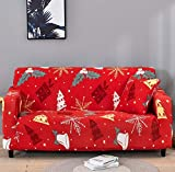 WXQY Funda de sofá de Estilo navideño Funda de sofá Sala de Estar Funda de sofá elástica Funda de sofá en Forma de L sofá Toalla sillón A6 1 Plaza