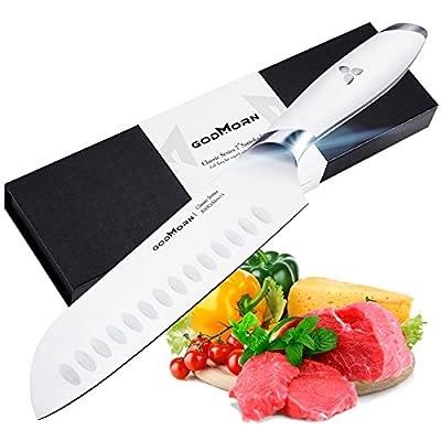 Godmorn Santoku Knife 7 inches Kitchen Knife Ge...