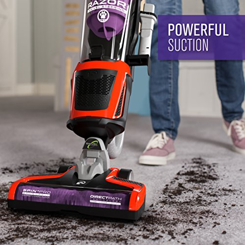 Dirt Devil Razor Pet Bagless Multi Floor Corded Upright Vacuum Cleaner with Swivel Steering, UD70355B, Red
