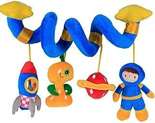 Labebe ? Vendedores Calientes Carro Juguete, Cochecito Juguete para Bebé de 3 Meses y Más, Colgante Espiral Bebé con Astronauta y Cohete Azul, Carro Bebé Juguete/Carro Bebé/Colgante Bebé