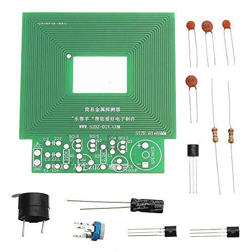 Brightz Los Paquetes de componentes, electrónica de Metal del módulo del Sensor del Kit 10pcs DIY Simple Detector de Metales Metal Localizador DC 3V-5V DIY Kit
