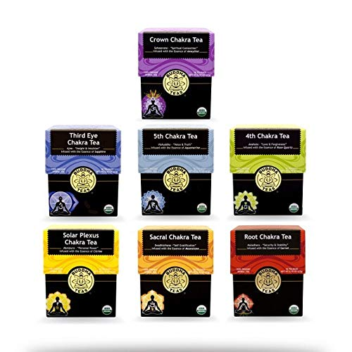 Buddha Teas Organic Chakra Tea Bundle | Set of 7 Boxes of Teas with 18 Bags Each | Made in the US