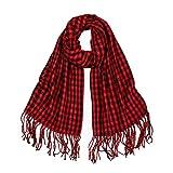 SOJOS Womens Plaid Scarf Large Long Blanket Check Wrap Shawl SC315 with Red&Black Plaid