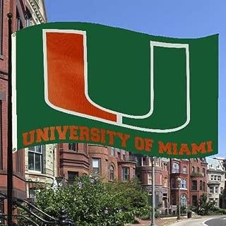 NCAA Miami Hurricanes 3' x 5' Green Flag