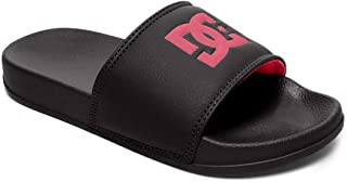 DC Boys Slide Sandal, Black/RED, 1 M M US Little Kid