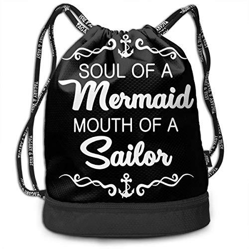 Petrichor Yi Dames ziel de zeemeermin mond van de zeemanns bundel rugzak grappige boodschappentas