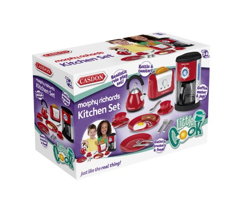 Casdon Morphy Richards Kitchen Set Toy - Kettle, Toaster and Coffee Machine
