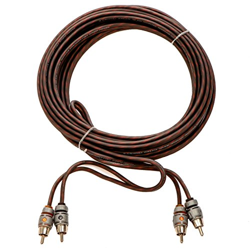 Alphasonik 3 Feet Premium 2 Channel Hyper-Flex RCA Interconnect Signal Patch Audio Cable with X-Radial Twist Wire Technology 100% Oxygen Free Copper Element Certified for Multiple Applications FLEX-R3