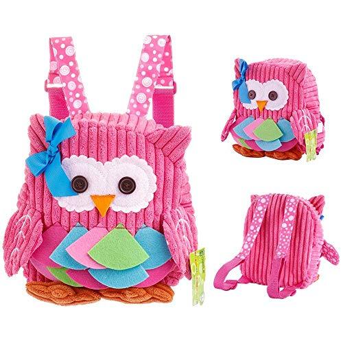 Luimode mochila infantil Mochila para niños con animalMochila escolar para niños de 2 a 7 años de edad, búho