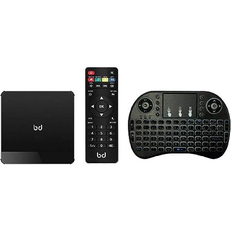 Biwond HomeBox Pro (Smart TV,Mini PC,4K,HDR,Android 9.1,4GB RAM,32GB Memoria,Quad Core, Bluetooth, DLNA,IPTV, Teclado Inalámbrico Incluido, HDMI) - ...