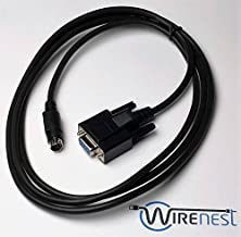 Wirenest 6ft VISCA PTZ Camera Control Cable for Sony EVI/BRC/SRG Series RS232 8 Pin Mini DIN to DB9F Serial