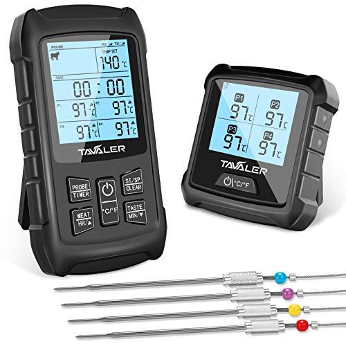 Tavaler Grillthermometer Digital 4...