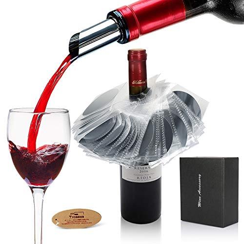 YOBANSA Set di 38 versatore di vino,versatore di vino aeratore,accessori per il vino(style 04)