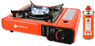 Camplux JK-8610 Portable Butane Stove, 8,000 BTU Camping Backpacking Outdoor Gas Stove Burner with Carrying Case, CSA Listed