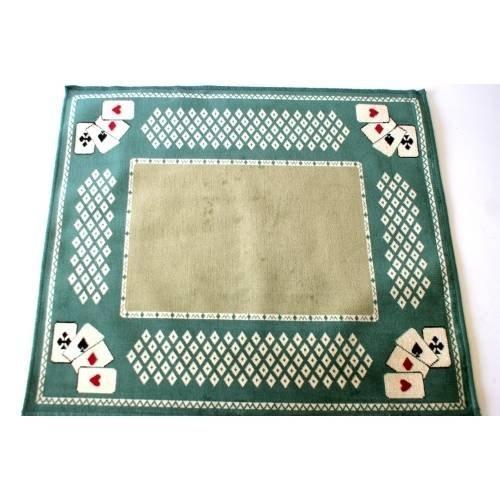 Tapis de jeu de cartes 60 X 70 cm vert A08-TAPIVERTCA03