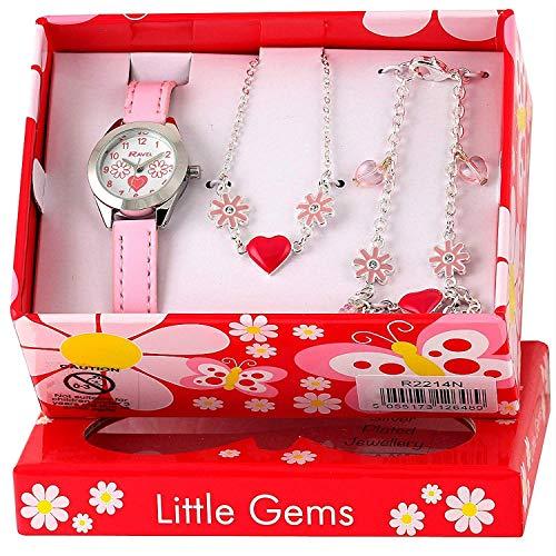 Ravel - Little Gems Reloj para niños de Cuarzo, Correa de plástico, Color Rosa