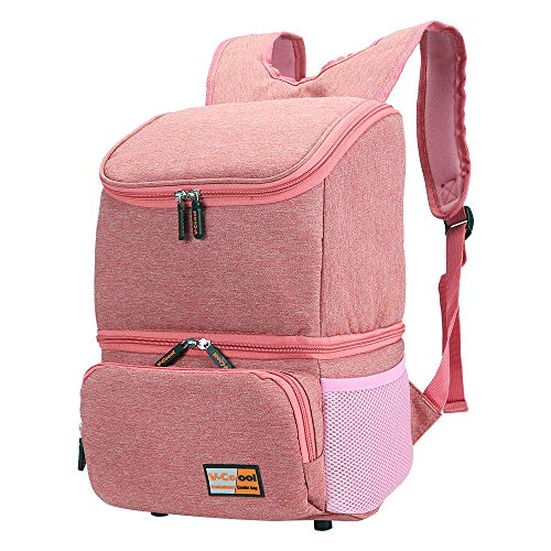 Great Price! Breast Pump Backpack - Breast Feeding Mom Work Pump Bag with Cooler Pockets for Ice Pac...