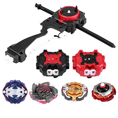 Spinning Gyro Toy, 4 en 1 Burst Set Toys Spinning Top Dreidel Toy Arena Luchando Gyro con Launcher Sticker Festival Regalo para Ni?os