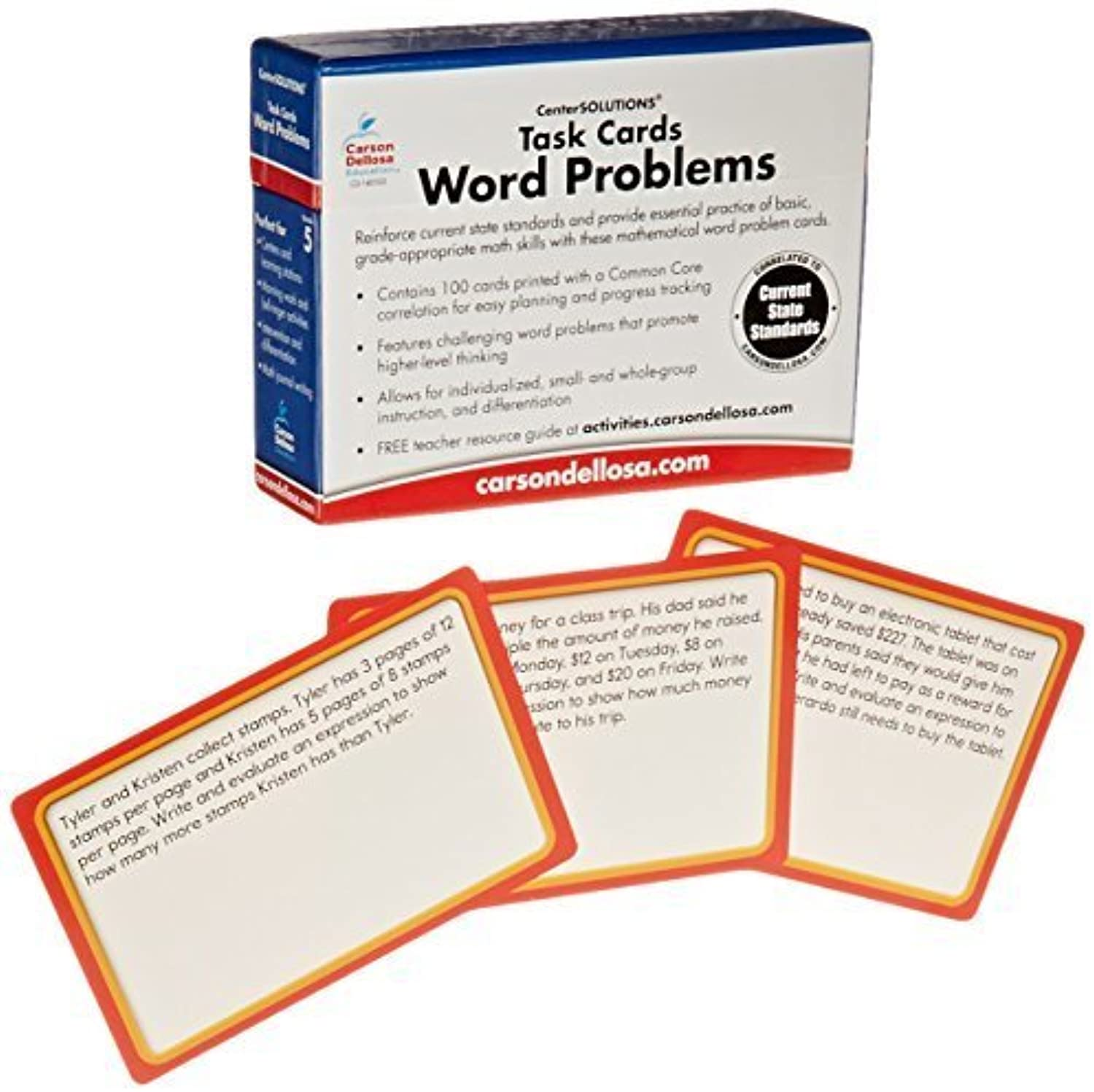 Task Cards  Word Problems Grade 5 Board Game by CarsonDellosa