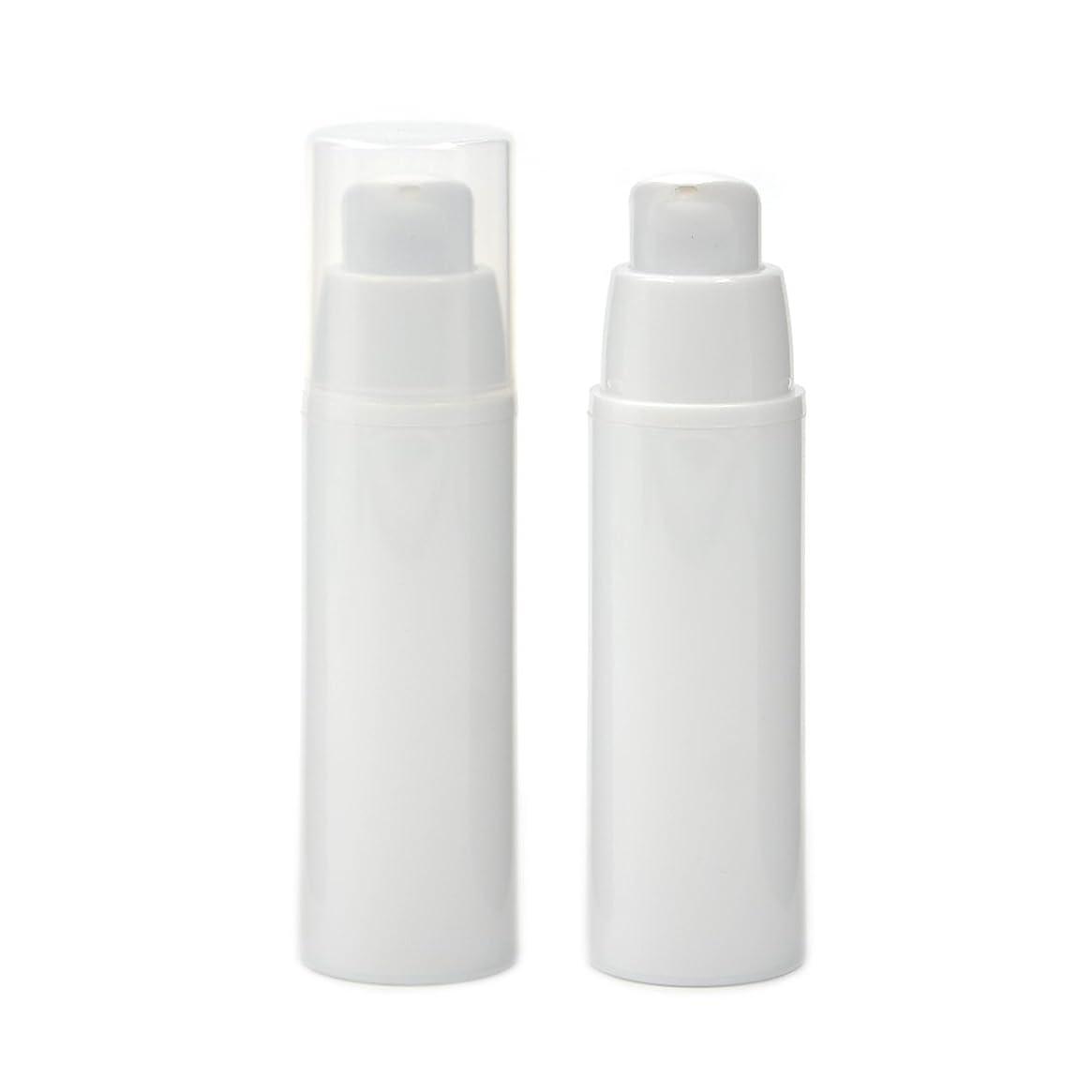 海里トリップスパイAngelakerry エアレス容器 ホワイト 30ml 手作りコスメ 手作り化粧品 詰め替え容器 20本セット [並行輸入品]