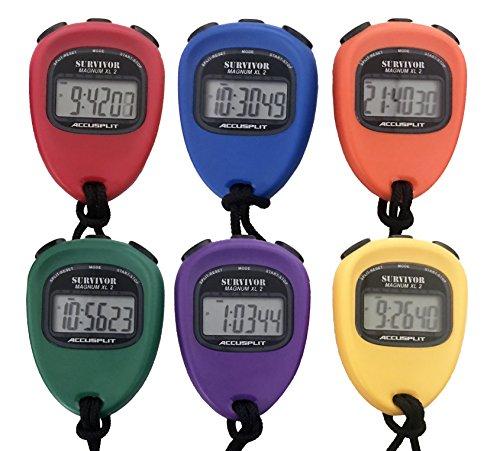 Accusplit New Survivor SX 2 Series - Cronómetro, color negro, 6-pack, Variados