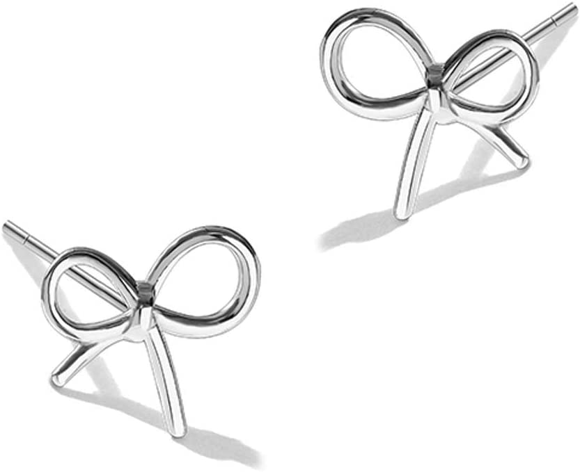 WJCCY Bowknot Nashville-Davidson Mall Earrings Female Silver Easy-to-use Sterling Fairy Temperament