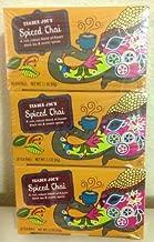 Trader Joe's Spiced Chai Assam Black Tea &Exotic Spices 20 Tea Bags 2.2 Oz. (Pack of 3)