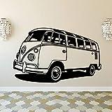 Adhesivo de pared, 57x91 cm, colección Camper Vintage para decoración de pared, autocaravana icónica de época antigua, adhesivo de pared antiguo clásico