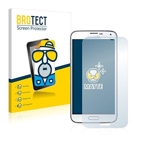 BROTECT 2X Entspiegelungs-Schutzfolie kompatibel mit Samsung Galaxy S5 / S5 Neo Bildschirmschutz-Folie Matt, Anti-Reflex, Anti-Fingerprint