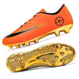 Niber Unisex's AG Cleats Training Athletic Non-Slip Long Studs Football Soccer Shoes for Youth utdoor/Indoor Soccer Shoe